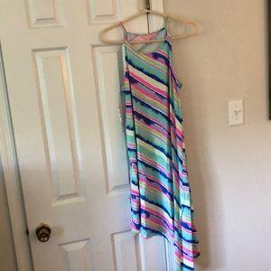 Lilly Pulitzer Striped Asymmetrical Dress